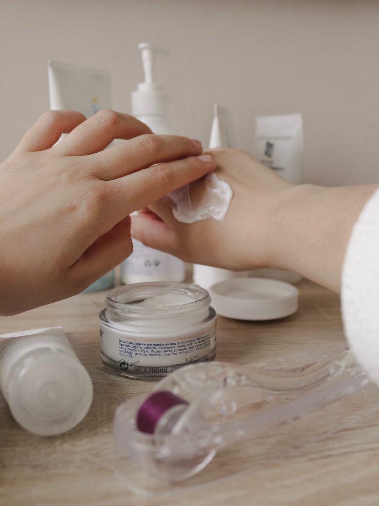 Applying Cream - California Bans Carcinogenic Cosmetics - The Content Spa