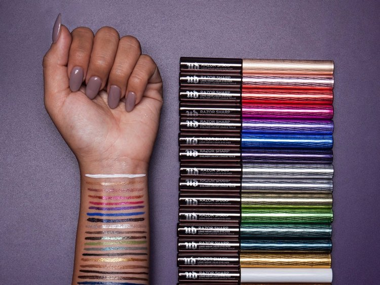 Urban Decay Razor Sharp Eyeliner Swatches - 9 Huge Branding and Marketing Mistakes that Beauty Companies Are Still Paying For - The Content Spa