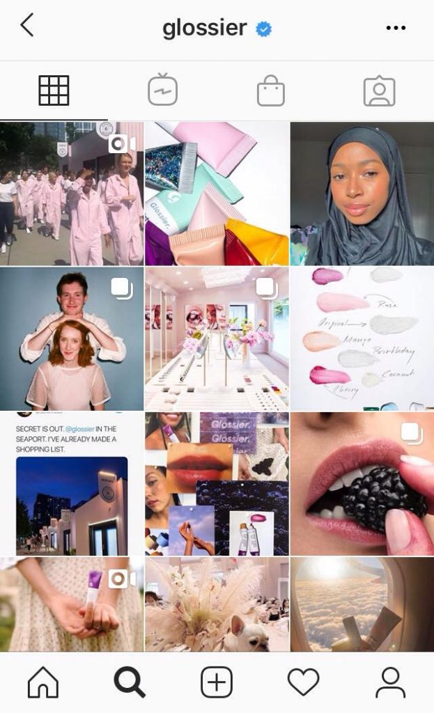 Glossier Instagram Page - Glossier: Leading the beauty industry with the power of community and content marketing - The Content Spa