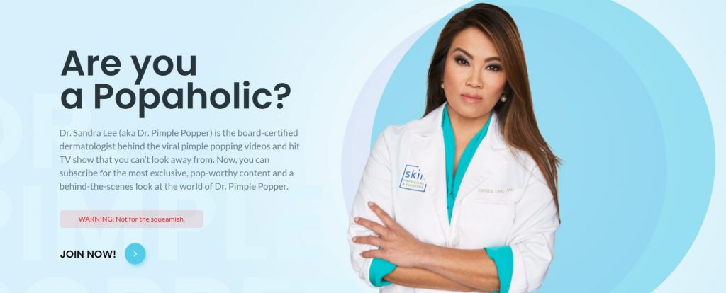 Dr Sandra Lee aka Dr Pimple Popper - Dermatologists Who Are Winning in Social Media Marketing - Content Spa