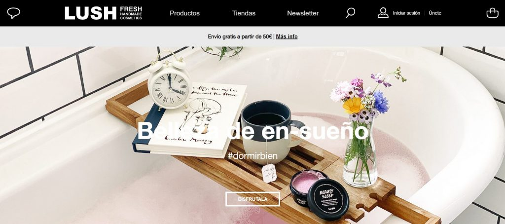 Lush Cosmetics Homepage Spain - A Beginner's Guide to Localized Content Marketing for the Beauty Industry - Content Spa