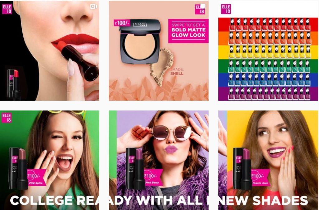 Elle 18 Instagram - Rising as the next beauty giant - The Indian Beauty Industry - Content Spa