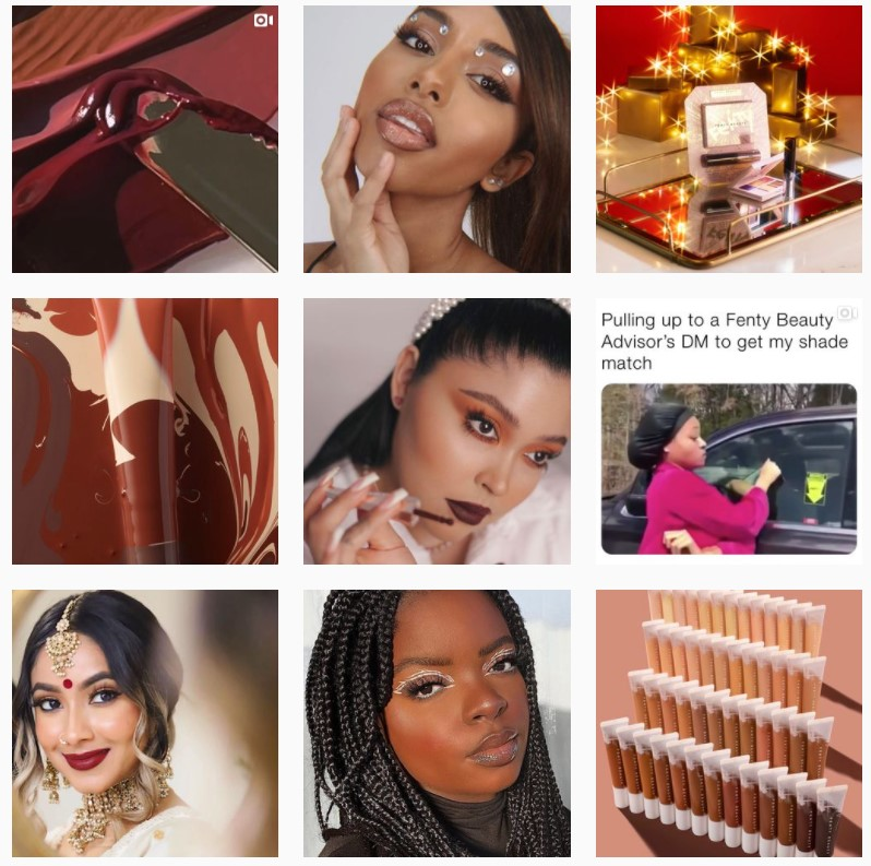 Fenty Beauty Instagram Homepage - 9 Content Marketing Strategies That Actually Work - Content Spa